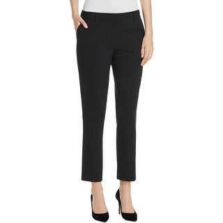 Calvin Klein Womens Ankle Pants Woven Stretch