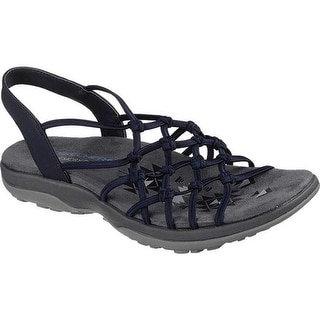 e58c1ed2fdbe Shop Skechers Women s Reggae Slim Forget Me Knot Slingback Sandal Navy - On  Sale - Free Shipping Today - Overstock - 19754637