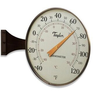 """Taylor - 480Bzn - 8.5"""" Dial Thermometer Bronze"""