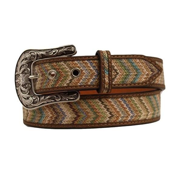 Ariat Western Belt Womens Chevron Aztec Multi-Color Brown