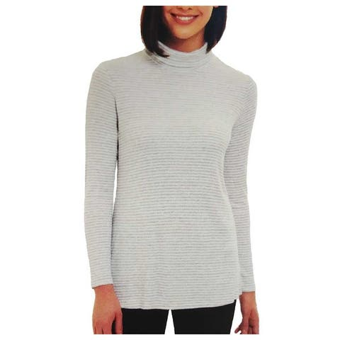 Jones New York Women Turtleneck Long Sleeve Soft Top - Small