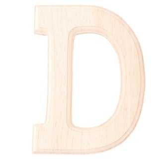 Wedding Party Wooden Decor English D Letter Alphabet Free DIY Wall Wood Color