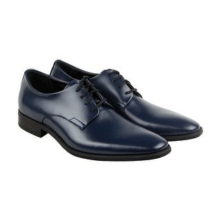 Calvin Klein Ramses Mens Blue Leather Casual Dress Lace Up Oxfords Shoes