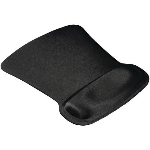 Allsop 30191 Ergoprene Gel Mouse Pad With Wrist Rest (Black)