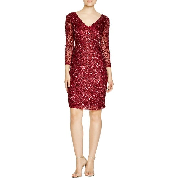 JS Collections Womens Party Dress Mesh Embellished