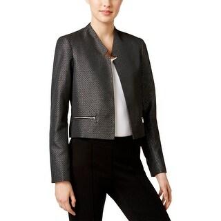 Calvin Klein Womens Jacket Metallic Long Sleeves