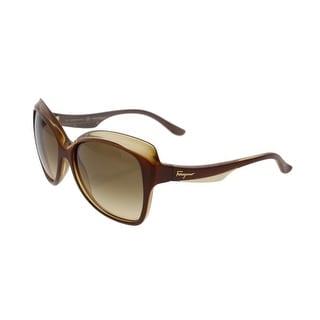 Salvatore Ferragamo Womens Gradient Designer Butterfly Sunglasses