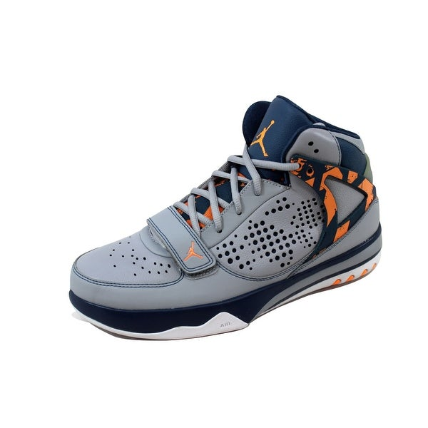 6084d15b512c97 Shop Nike Men s Air Jordan Phase 23 Hoops Wolf Grey Atomic Orange ...