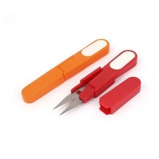 Unique Bargains 5 Metal Plastic Fishing Tackle Line Cord Cutting Sewing Scissors 2 Pcs
