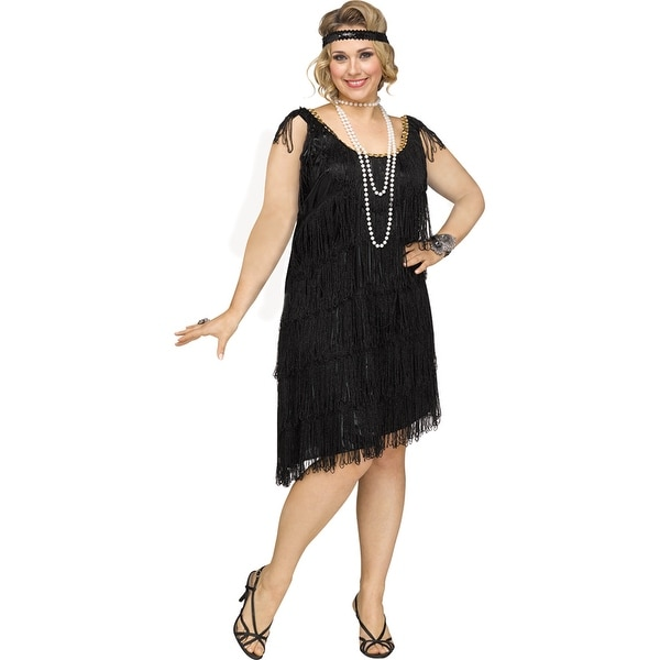 25c7f318810 Womens Sexy Shimmery Flapper Plus Size 1920s Costume
