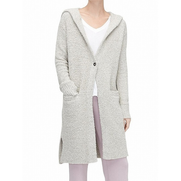 636fdaf0a78 Shop UGG Gray Womens Size XS/ S Judith Knit Plush Cardigan Sweater ...