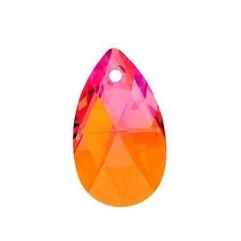 Swarovski Crystal, 6106 Pear Pendant 22mm, 1 Piece, Crystal Astral Pink