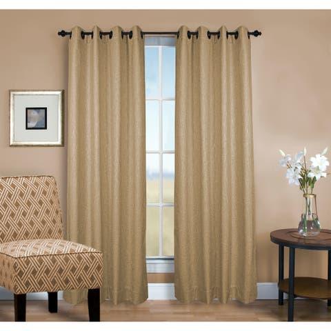 Monet Insulated Room Darkening Grommet Single Curtain Panel