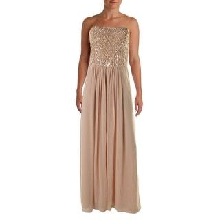 Aidan Mattox Womens Chiffon Strapless Semi-Formal Dress