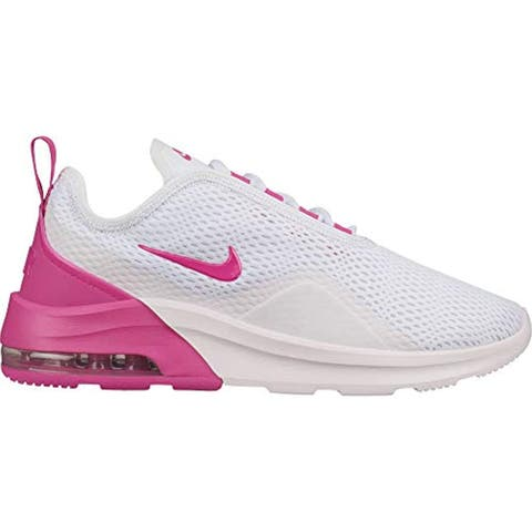 ad15ba563a7e4 Nike Women's Air Max Motion 2 Running Shoe White/Laser Fuchsia/Pale Pink  Size