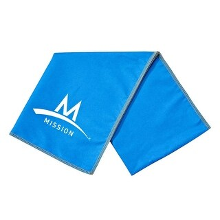"Mission Athletecare Enduracool Instant Cooling Lightweight Towel Blue 13"" x 37"""