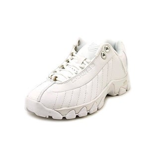 K-Swiss ST329 CMF Women Round Toe Leather White Sneakers