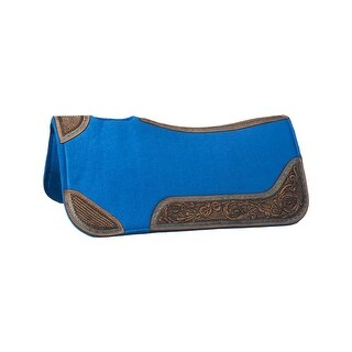 "Tough-1 Saddle Pad Contoured Leather Accents 30"" x 30"""
