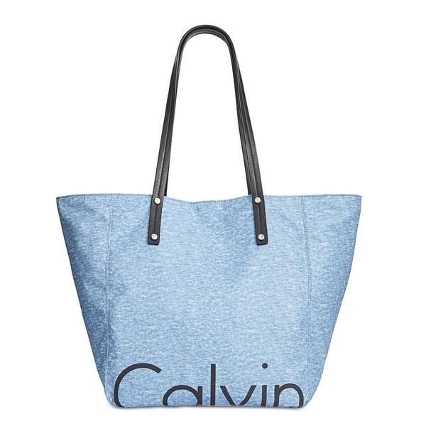 e13fc1445605 Calvin Klein Womens Tote Handbag Heathered Contrast Trim - Extra large