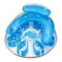 "48.5"" Blue Water Pop Circular Inflatable Swimming Pool Lounger"