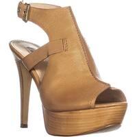 Guess Ofira Ankle Strap Platform Sandals, Medium Brown - 10 us
