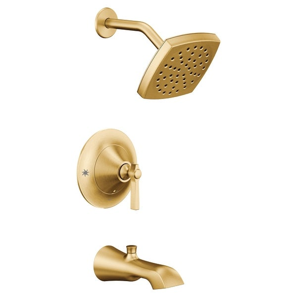 Moen TS2913EP Flara Tub and Shower Trim Package with 1.75 GPM Single Function Shower Head