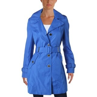 Calvin Klein Womens Petites Trench Jacket Fall Lightweight