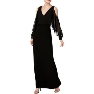 Calvin Klein Womens Evening Dress Halter Beaded