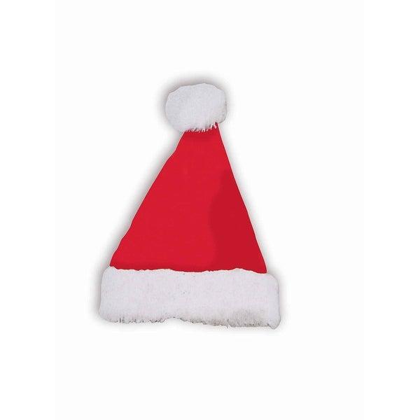 Plush Santa Costume Hat Adult - Red