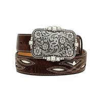Ariat Western Belt Womens Distressed Underlay Antiqued