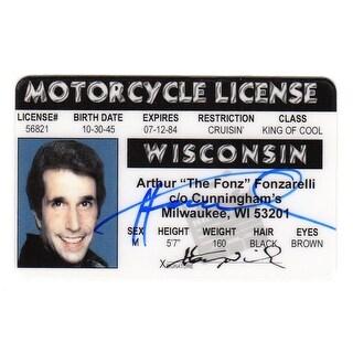 Henry Winkler Arthur Fonzarelli Wisconsin Drivers License