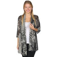 Women's Fashion Tunic Jacket - Colorful Open Front Top