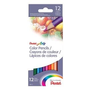 Pentel Arts Colored Pencils, Assorted Colors, Set of 12