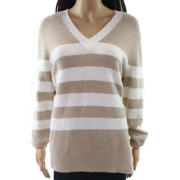 Shop Calvin Klein New Beige Womens Size Large L V Neck