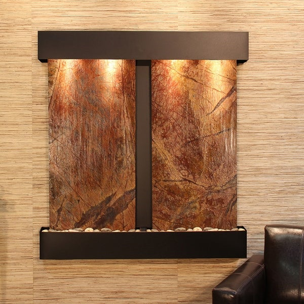 Adagio Aspen Falls Fountain with Blackened Copper Finish and Squared Edges - Multiple Colors Available