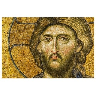 """""""Turkey, Istanbul, Mosaic of Christ Pantocrator in Haghia Sophia Mosque"""" Poster Print"""