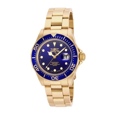 Invicta Men's Pro Diver 17058 Gold Stainless-Steel Quartz Dress Watch