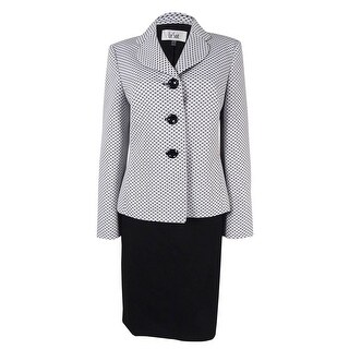 Le Suit Women's Three-Button Skirt Suit - 8