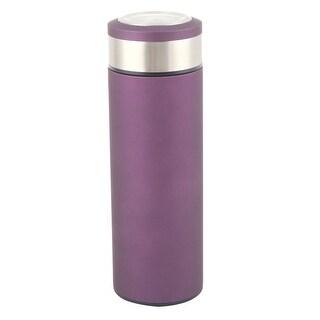 Home Outdoor Stainless Steel Heat Retaining Water Bottle Vacuum Cup Purple 500ml