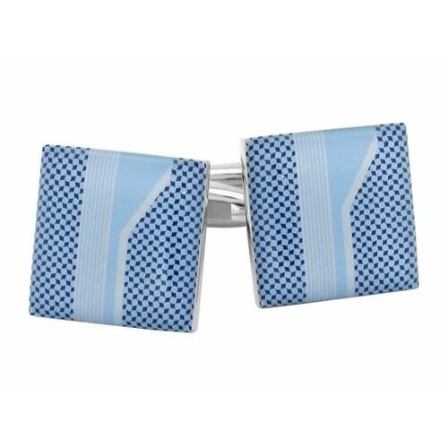 Baby Blue Print Cufflinks