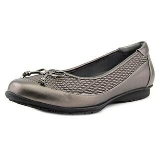FootSmart Kathleen Women W Round Toe Synthetic Gray Flats