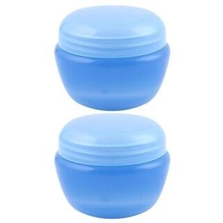 Travel Plastic Cream Container Cosmetic Storage Bottle Organizer Blue 32ml 2pcs