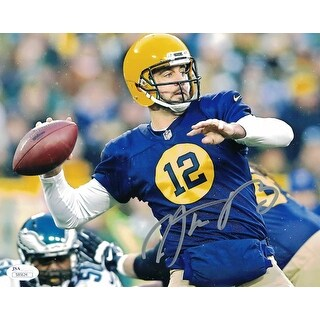 Aaron Rodgers Autographed Green Bay Packers 8x10 Photo ACME JSA