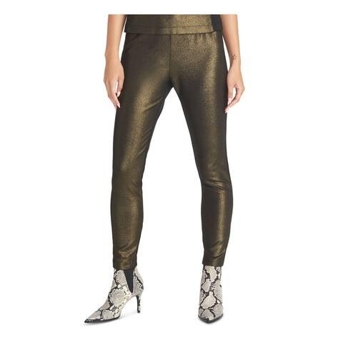 RACHEL ROY Womens Gold Glitter Leggings Size XL