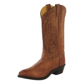 Old West Cowboy Boots Mens Polanil Leather Neolite Tan Canyon