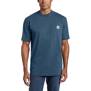 Carhartt Mens Carhartt Workwear T-Shirt K87, Stream Blue, M