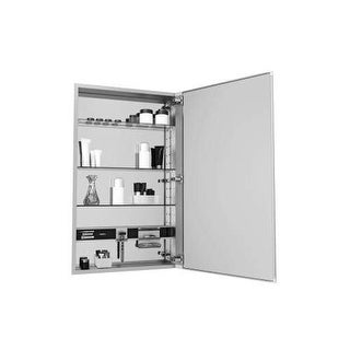 "Robern MC1630D4FBR M Series 16"" x 30"" x 4"" Flat Beveled Single Door Medicine Cab"