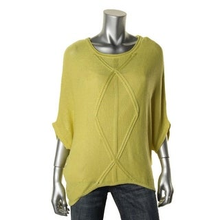 Cliche Womens Knit Ribbed Trim Pullover Sweater - M