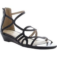 Madeline Women's Sizzle Strappy Sandal Black Synthetic