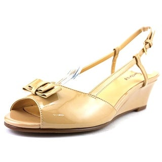 Trotters Milly N/S Open Toe Patent Leather Wedge Sandal